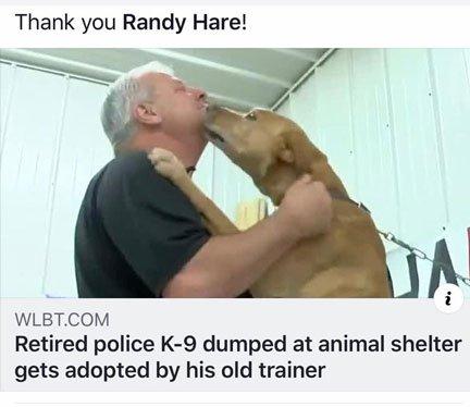 Randy Hare, K9 trainer & owner of Alpha K9 & Ringo